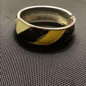 Metal cuff clip on bracelet